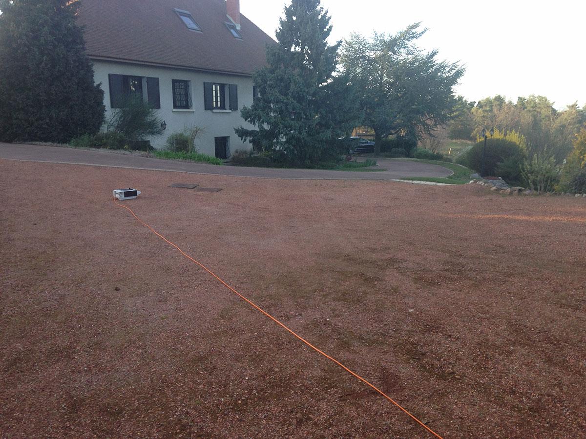 Aménagement de jardin - Terrain brut