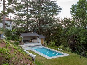projet piscine et pool house terminé